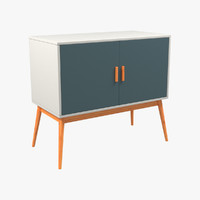 Retro Style Wooden Storage Sideboard