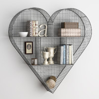 SHELF HEART ZINC