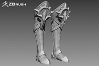 Zbrush Armor Boots