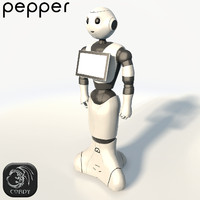 Robot Pepper low poly