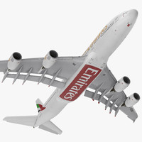 Airbus A380-1000 Emirates Rigged