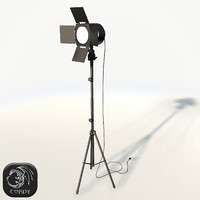 Photo studio spot light low poly