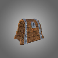 3d model low-poly chest