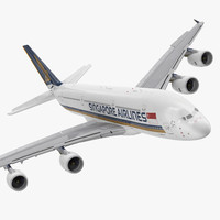 Airbus A380-1000 Singapore Airlines Rigged