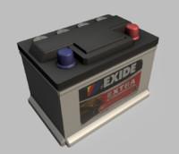 Battery 12 v  low poly