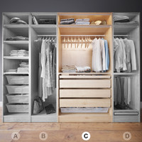 Wardrobe with Clothes part C