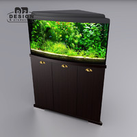 Aquarium cabinet corner delta
