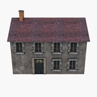 Low Poly European House 1