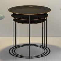 Boconcept Cartagena Nesting Tables 3D Models