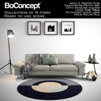 Boconcept Indivi 2 Seater Sofa with full scene