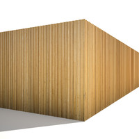 Larch wood siding