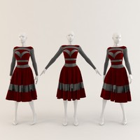 Woman Mannequin with Bad Girl Dress 012