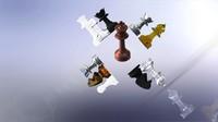 Staunton-style Chess Set by MILOSAURUS