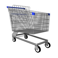 Steel Shopping trolley for groceries