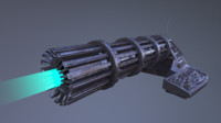 blend spaceship cannon gun