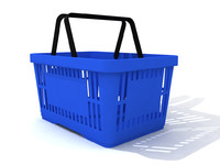 Blue shopping basket for groceries