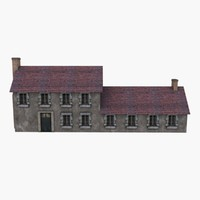 Low Poly European House 2
