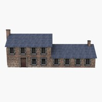 Low Poly European House 4