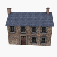 Low Poly European House 3