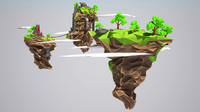 Lowpoly floating islands