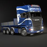 Scania R730 Flatbed Topline  Truck