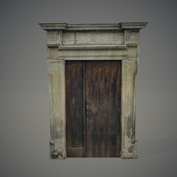 blend old wooden door
