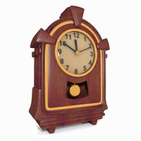 Cartoon Wooden Clock