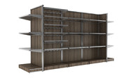 mass grocer or supermarket modular shelf unit
