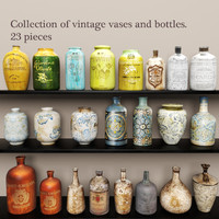 Collection vases and bottles