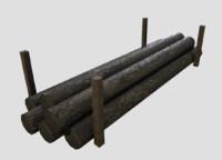 Timber low poly