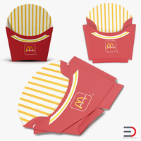 French Fry Boxes McDonalds Collection