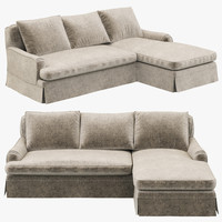 Restoration Hardware Belgian Classic Roll Arm Slipcovered Right-Arm Chaise Sectional