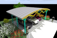 THE FSC001 CANOPY (metal+wood structure)