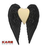 Kare Design Wall Decoration Vase Flying Heart