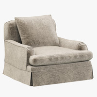 Restoration Hardware Belgian Classic Roll Arm Slipcovered Chair