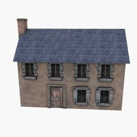 Low Poly European House 5