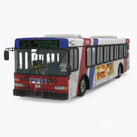3d model gillig floor bus