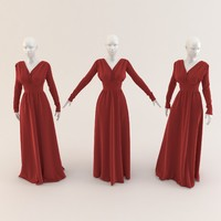 Woman clothing( Elegant Long Velvet Dress) 015