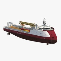 3d model offshore platform supply vessel