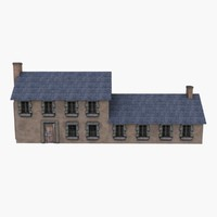 Low Poly European House 6