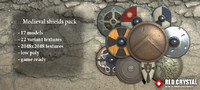 Medieval shields pack