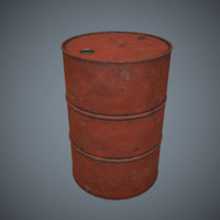 Oil Drum v3 Game Ready Low-Poly PBR