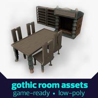 Gothic table scene