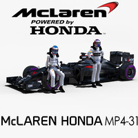 mclaren honda rigged 3d model