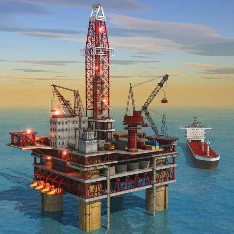 Oil Rig 3d Model A.jpg