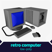 Low poly Retro Computer