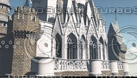 cinderella style castle