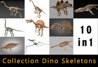 dino skeleton 3d max