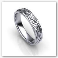 3d model ornament wedding ring 1