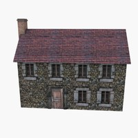 Low Poly European House 7